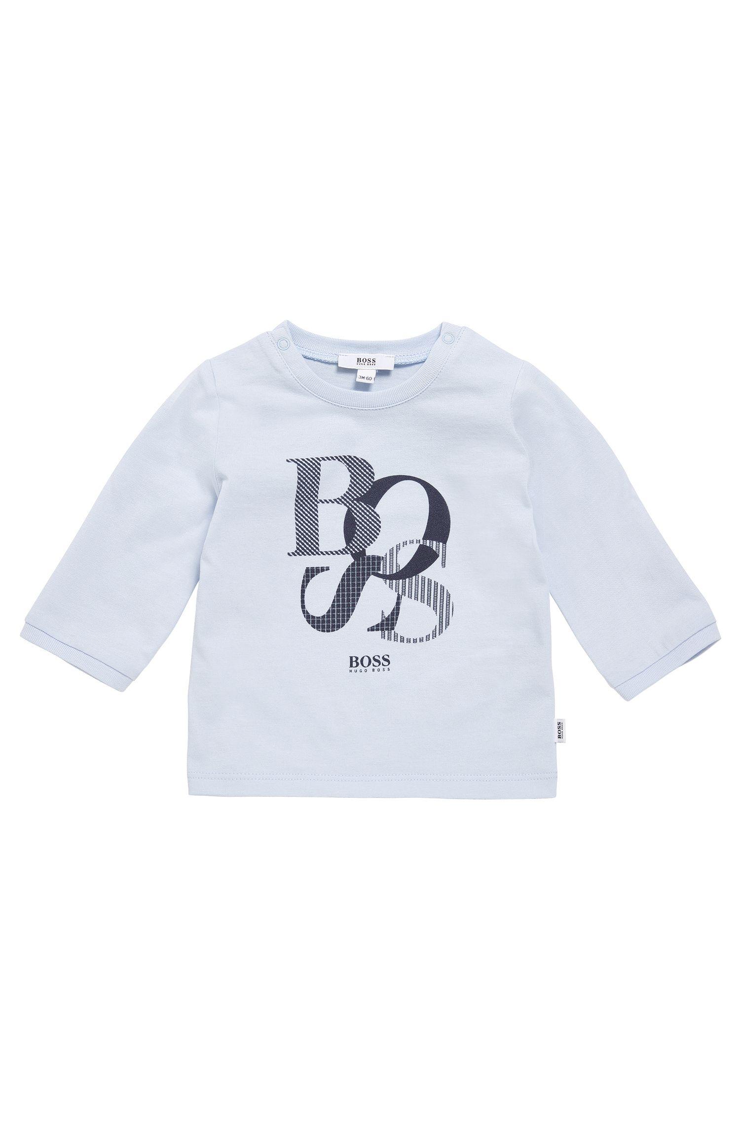 Baby-Langarmshirt aus Baumwolle mit Print: 'J95214'