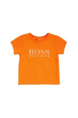 Camiseta regular fit para bebé en algodón, Naranja