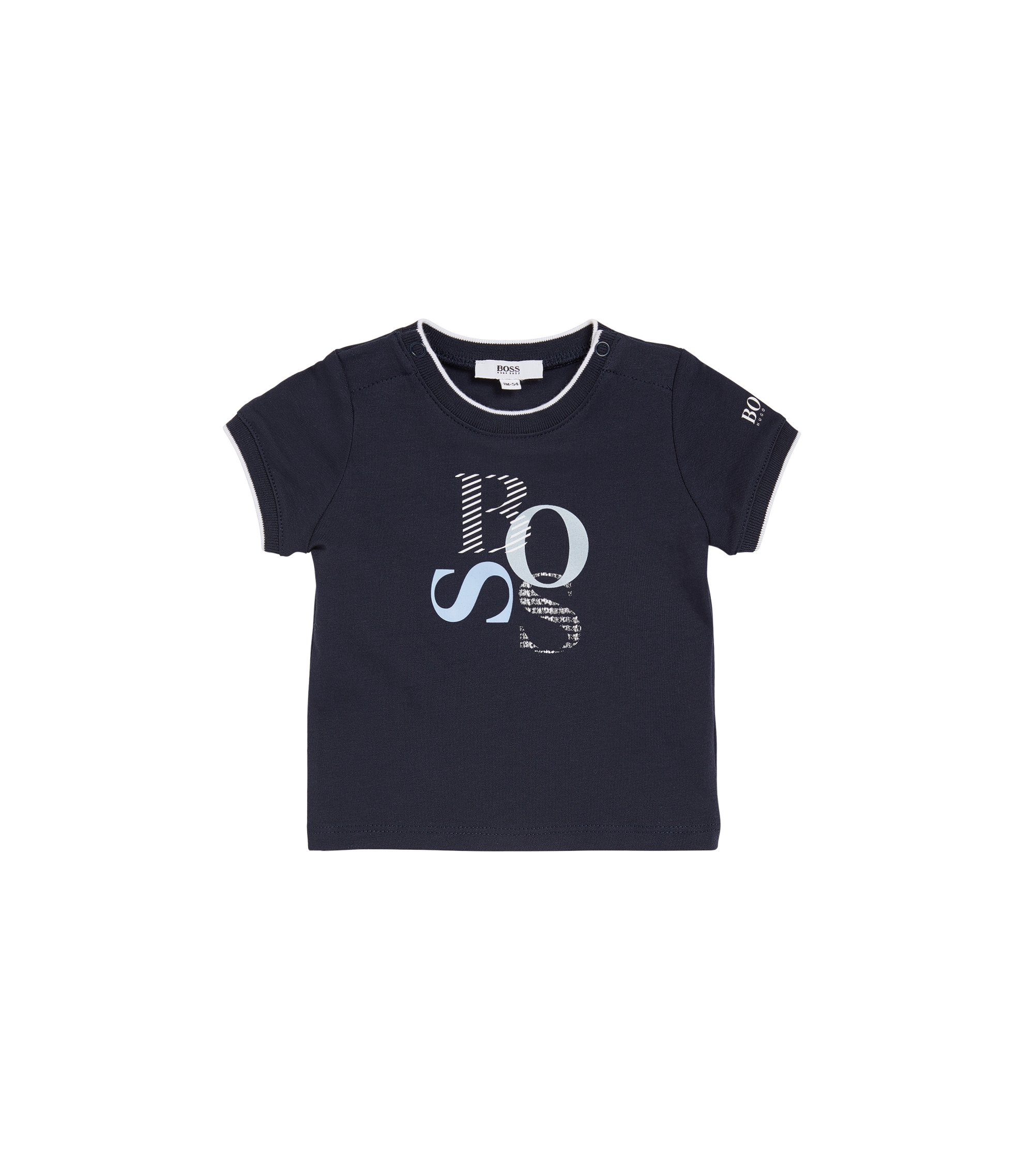 Regular-fit baby-T-shirt van single jersey, Donkerblauw