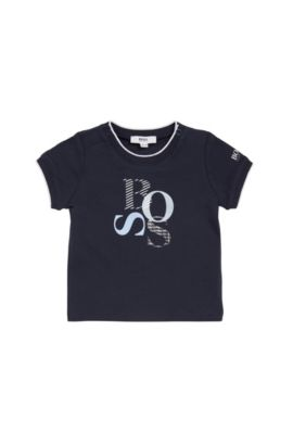 Regular-Fit Baby-Shirt aus Single-Jersey, Dunkelblau