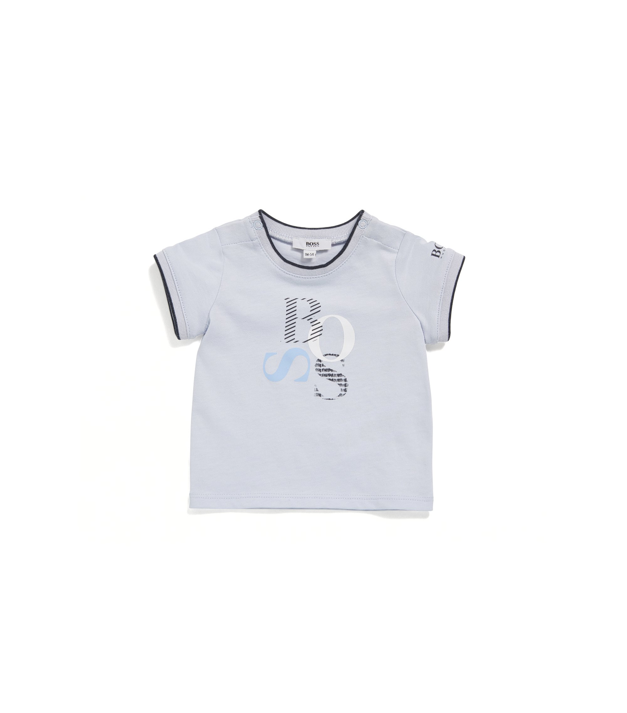 Regular-fit baby-T-shirt van single jersey, Lichtblauw