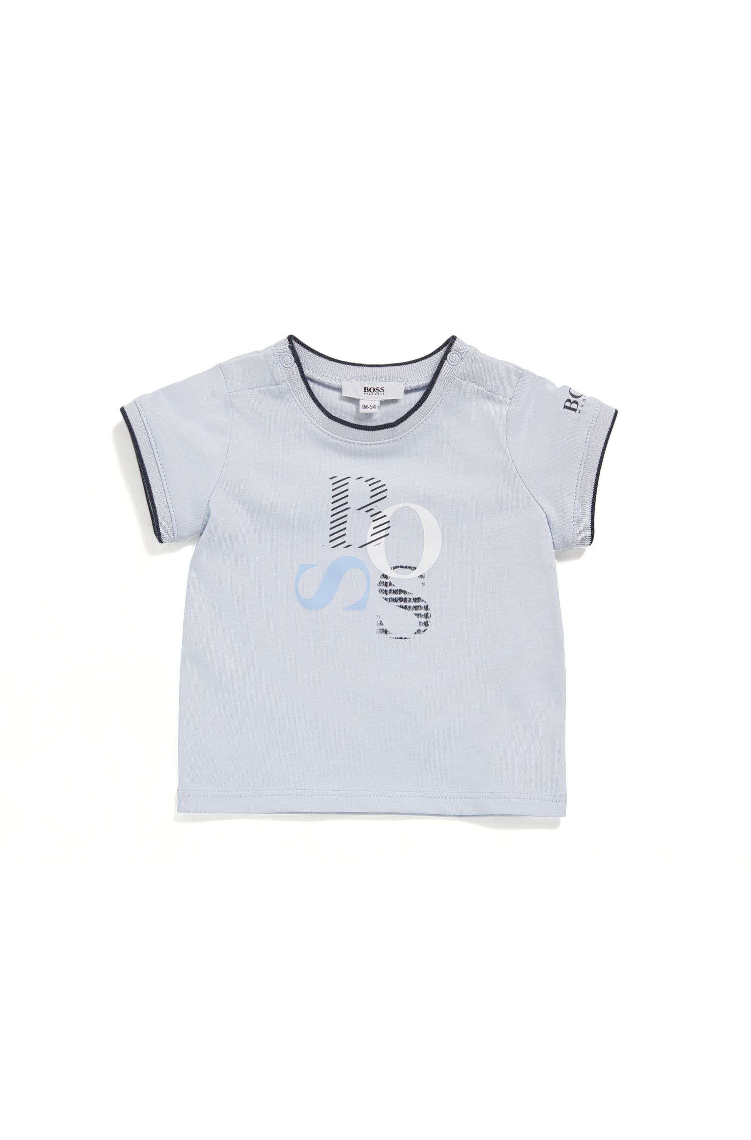 Camiseta regular fit para bebé en punto sencillo