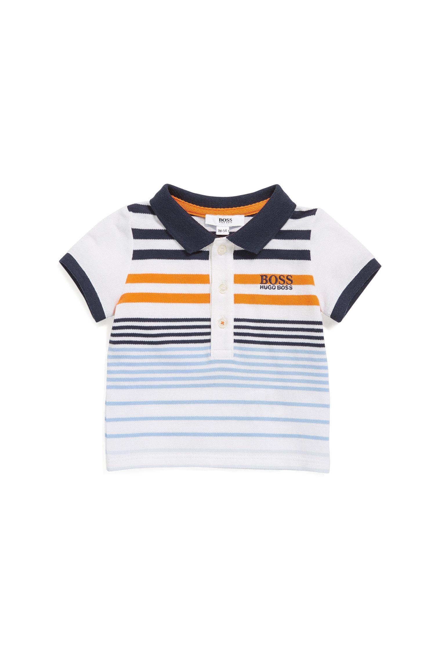 Baby polo shirt in stretch piqué