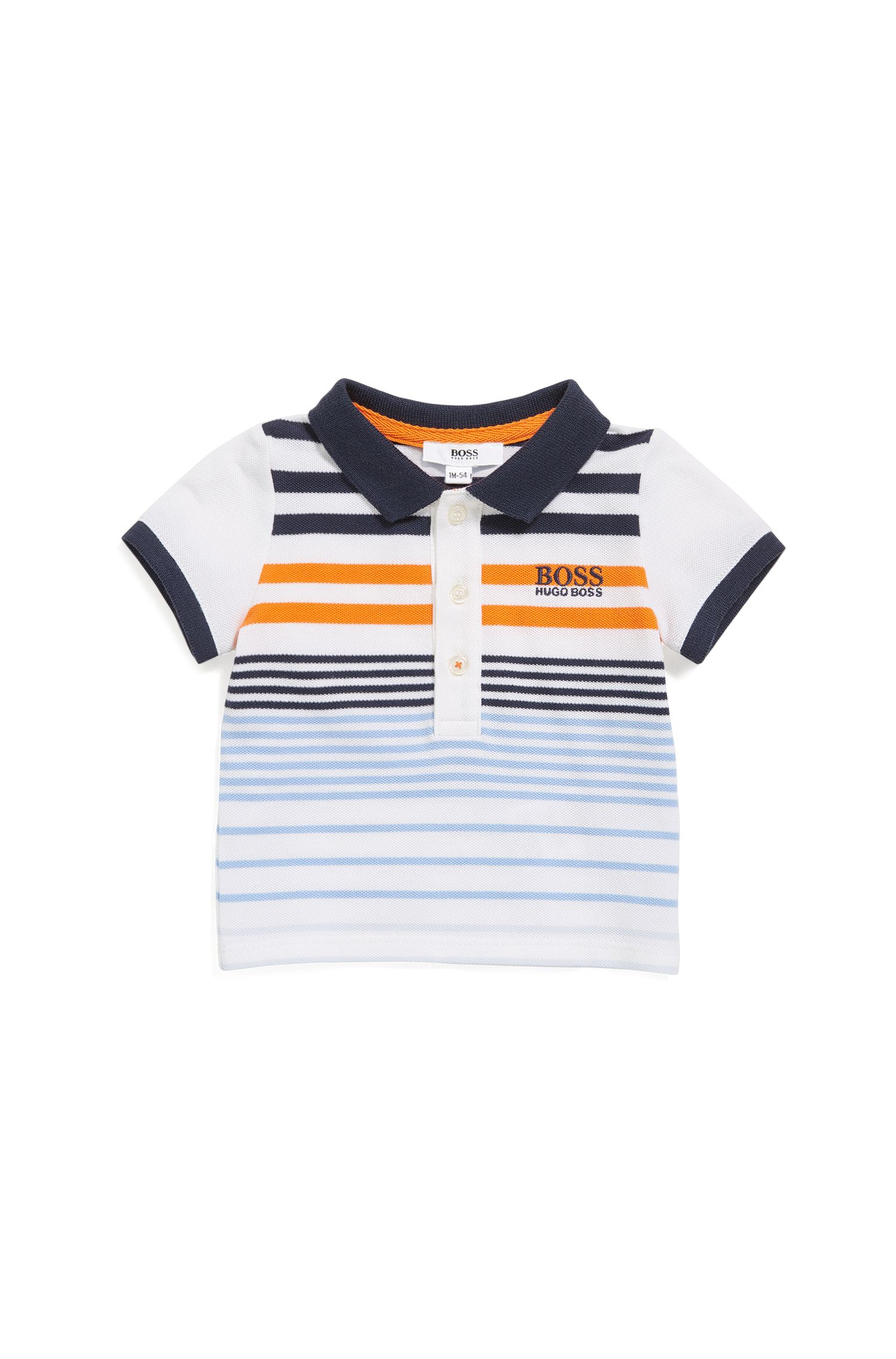 Baby polo shirt in stretch piqué