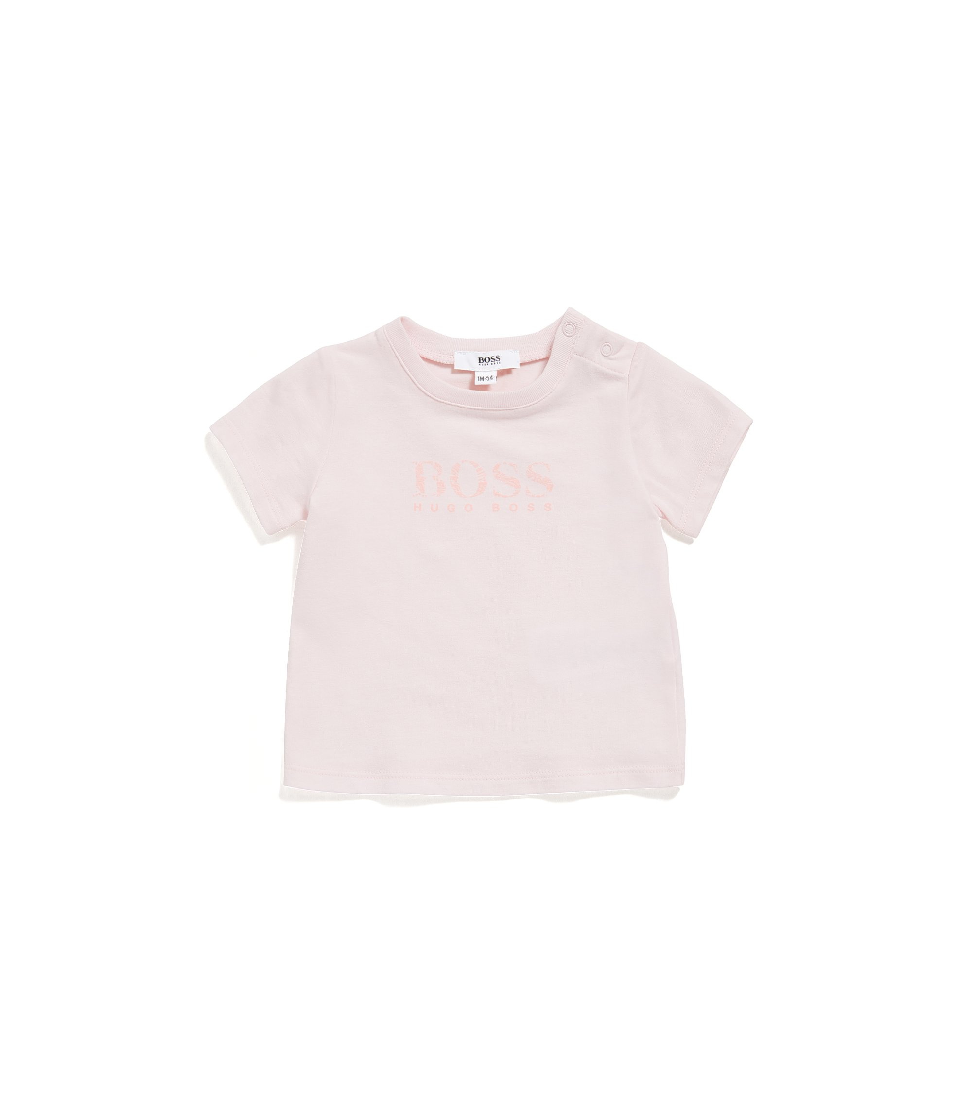 Baby regular-fit T-shirt in single jersey, light pink