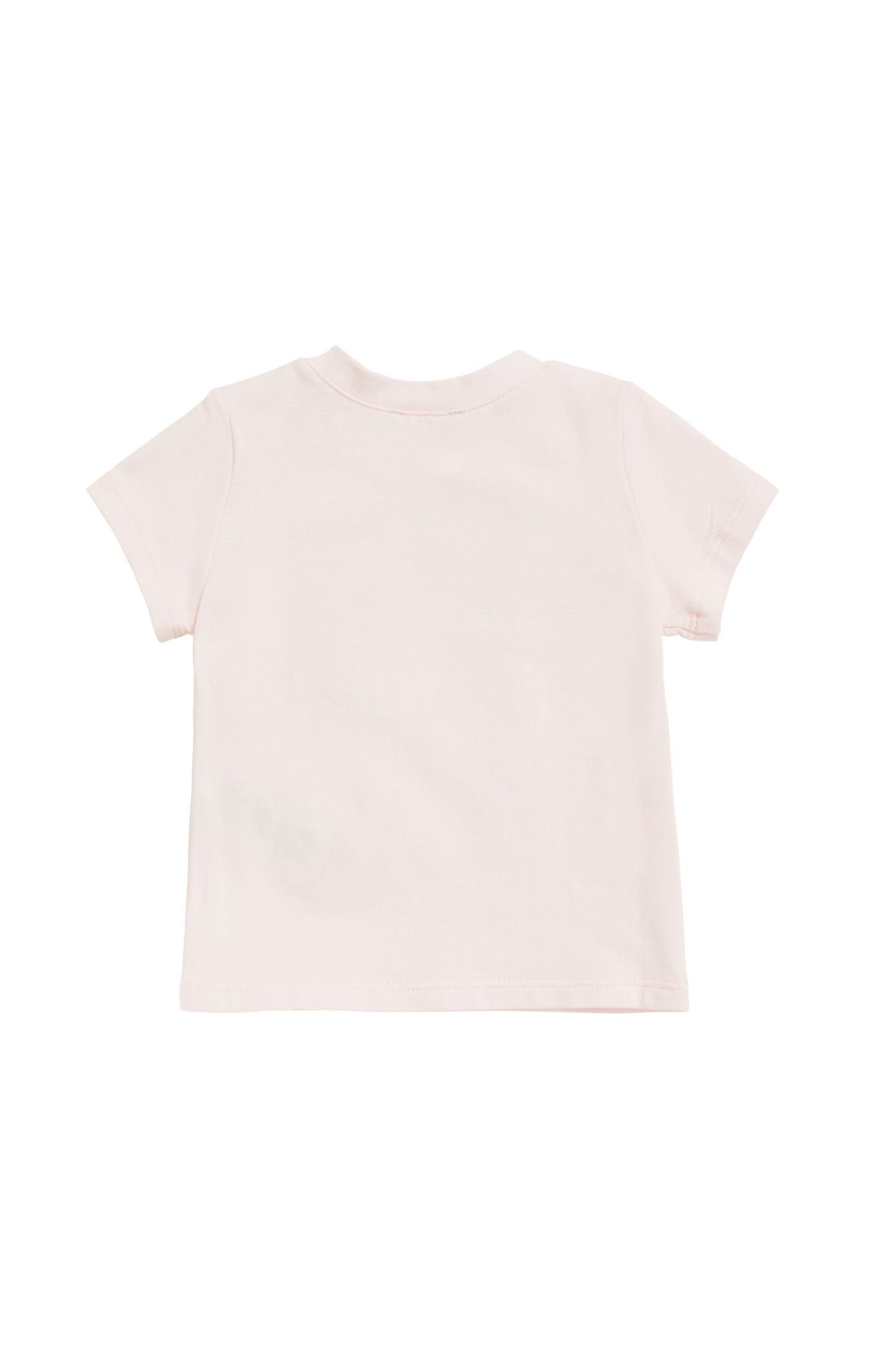 Baby T-shirt in stretch-cotton jersey with logo print