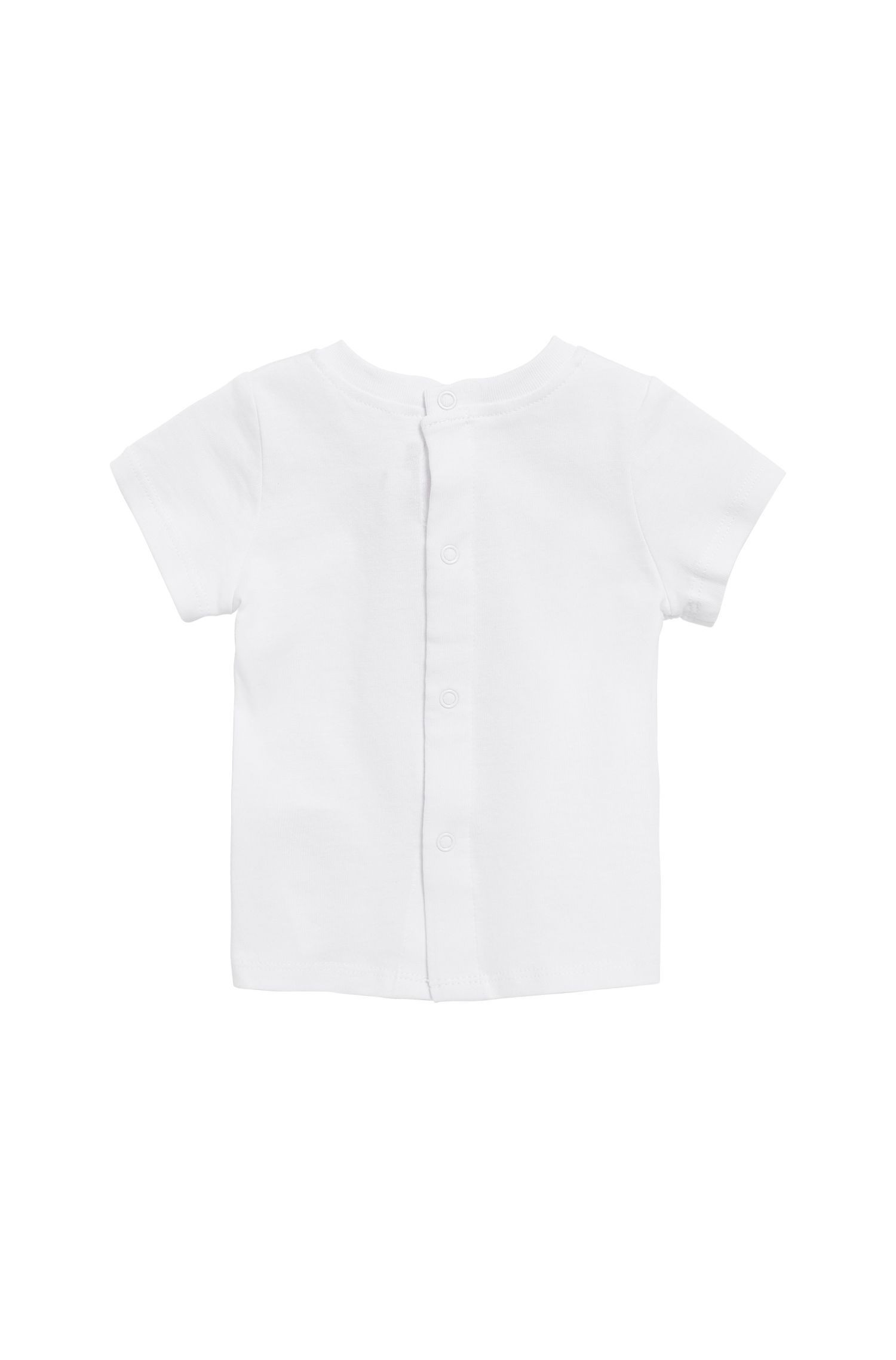 Baby logo T-shirt in pure cotton jersey, White