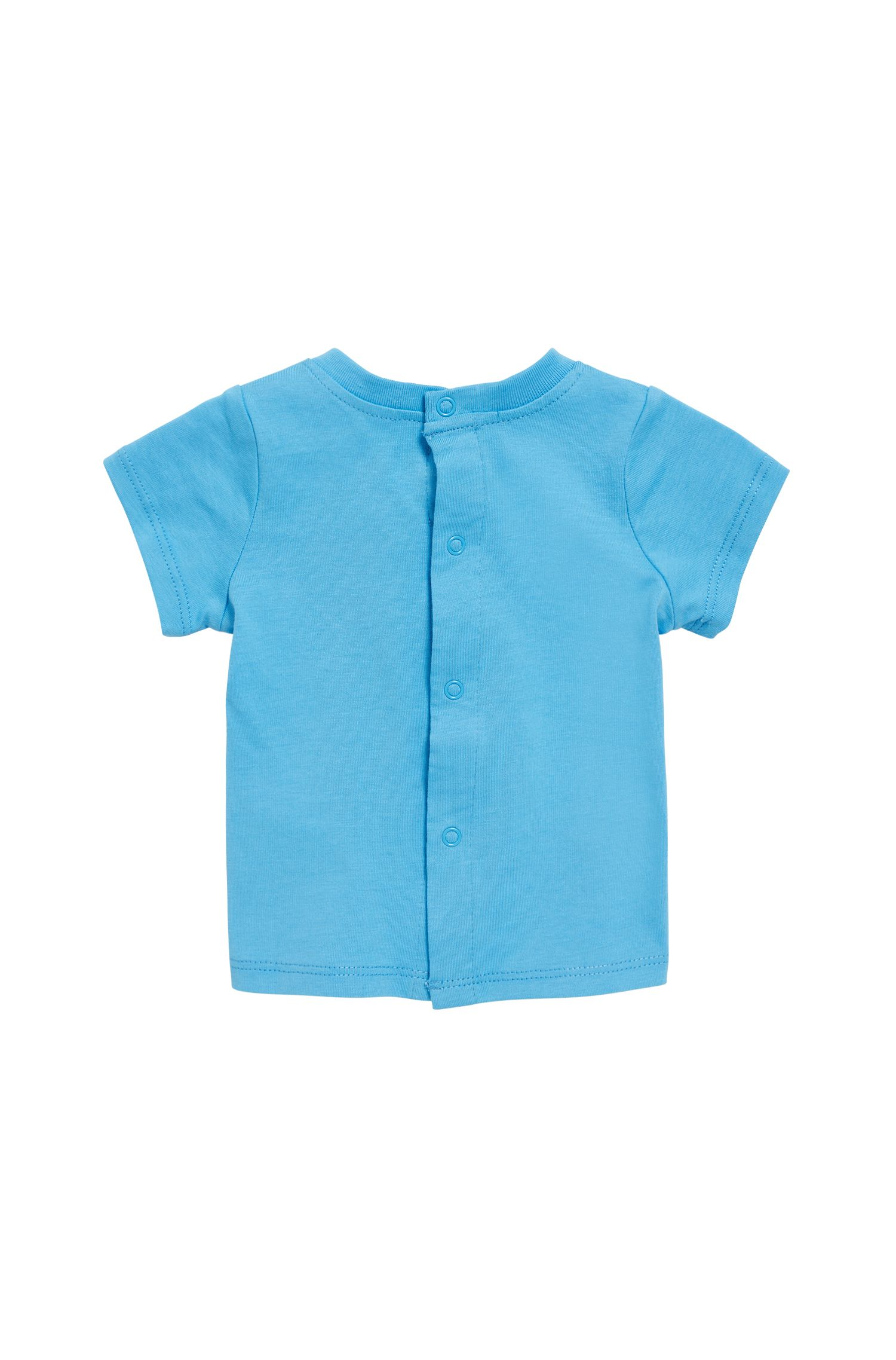 Baby logo T-shirt in pure cotton jersey