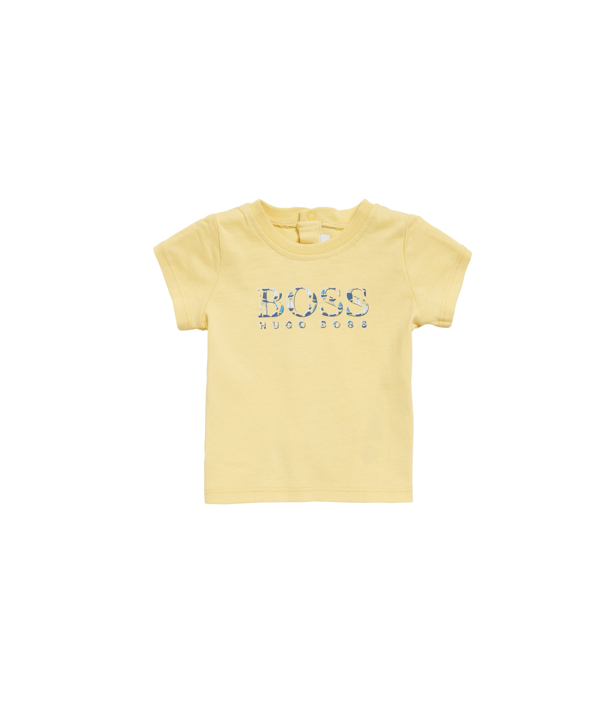 Baby logo T-shirt in pure cotton jersey, Light Yellow