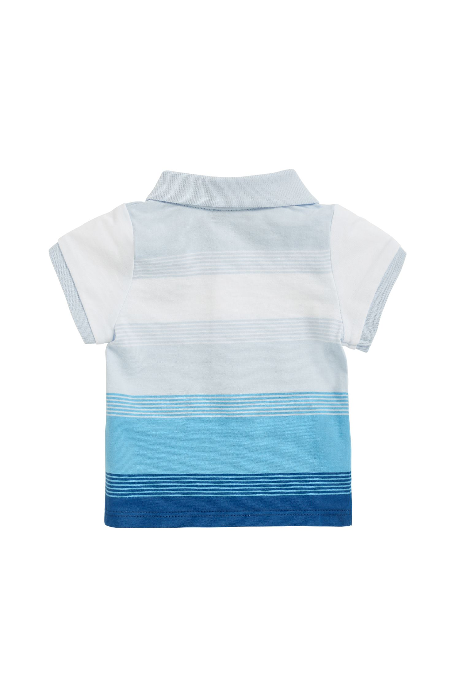 Baby polo shirt in striped cotton jersey