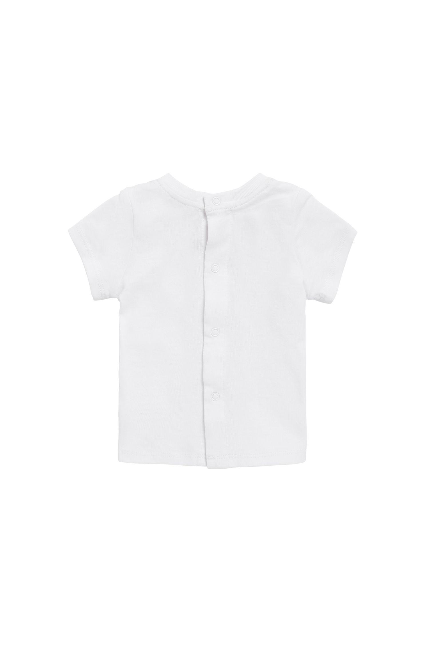 T-shirt pour bébé en jersey de coton imprimé, Blanc