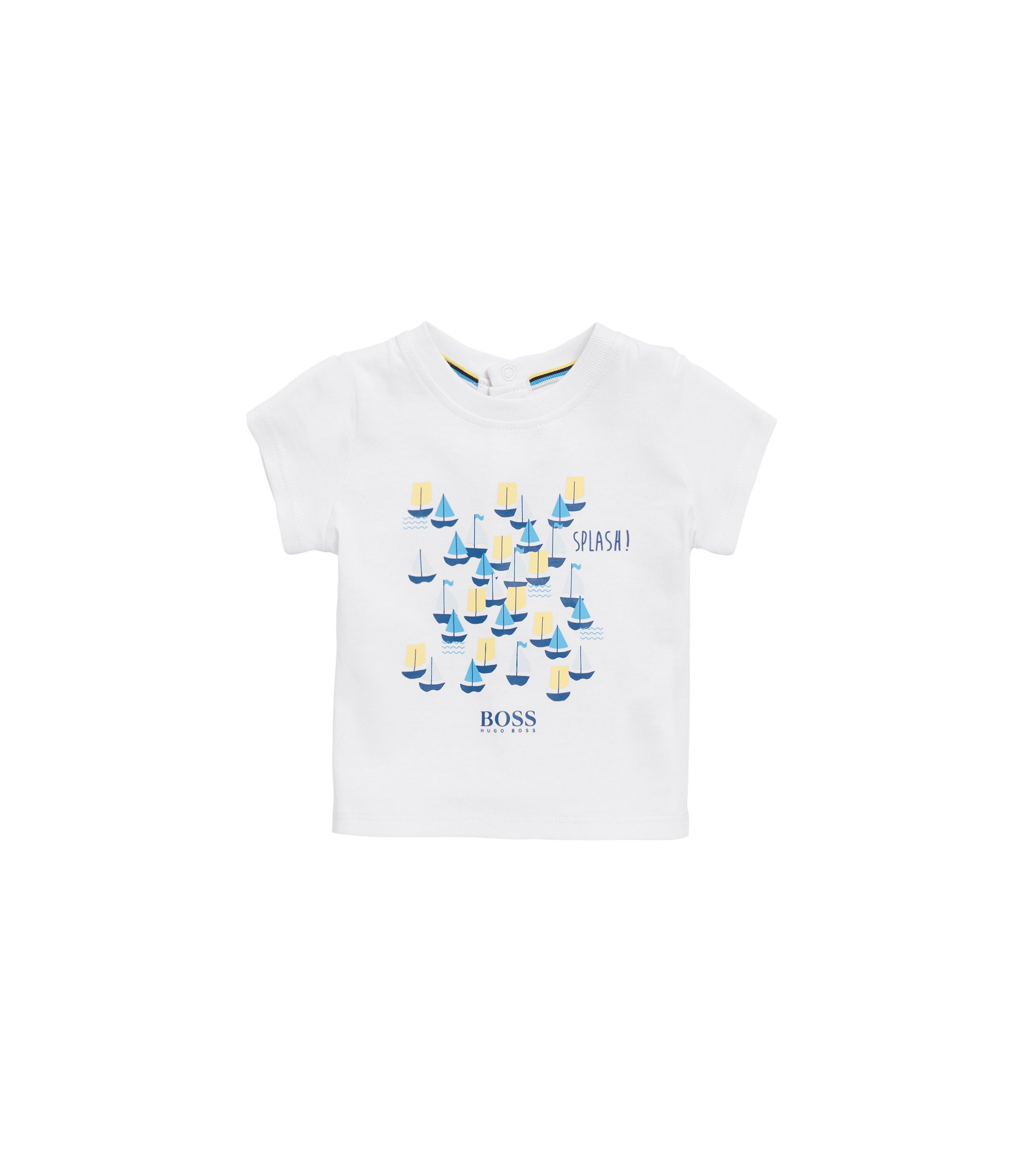 Baby T-shirt in printed cotton jersey, White