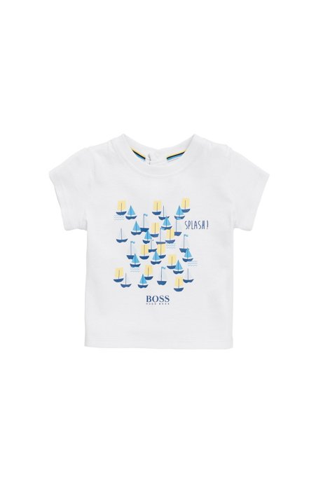 06fbaac35159 BOSS - Baby T-shirt in printed cotton jersey