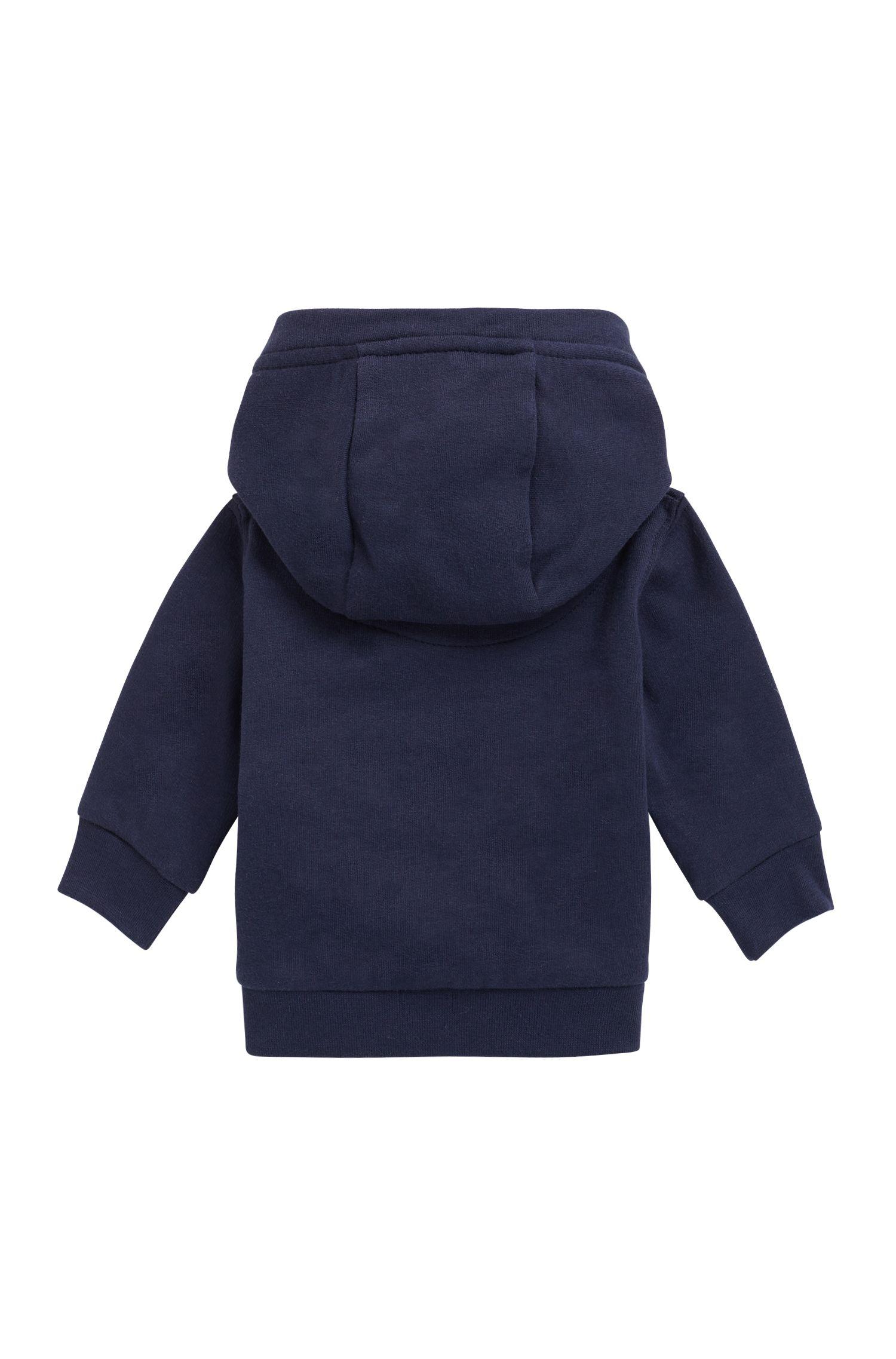 Baby-Kapuzenjacke aus Fleece, Dunkelblau