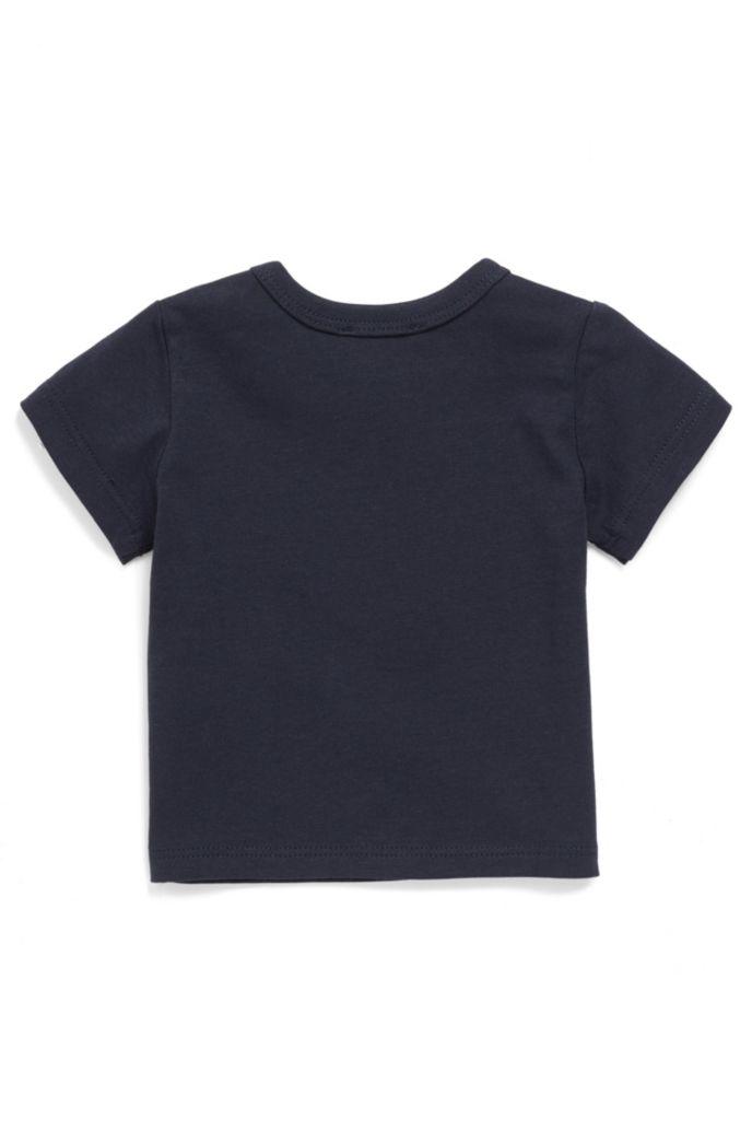 T-shirt pour bébé en coton à logo imprimé coloré