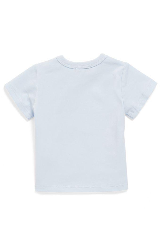 Baby-T-shirt van katoen met kleurige logoprint