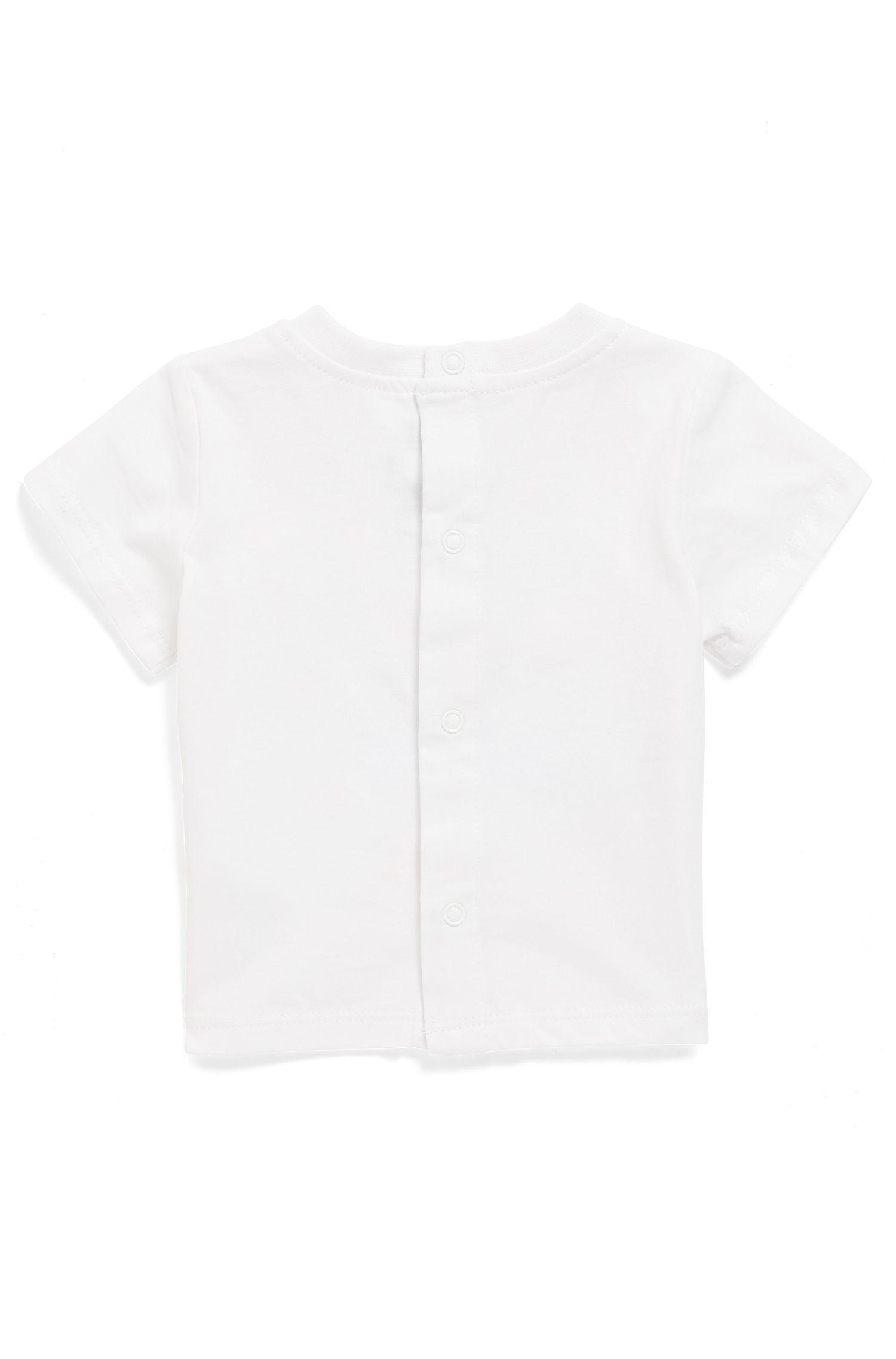 T-shirt pour bébé en coton à imprimé artistique camping-car, Blanc