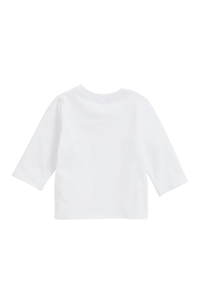 T-shirt voor kinderen met lange mouwen en logo met gouddetail