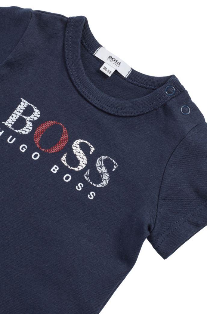 Baby T-Shirt aus reiner Baumwolle mit mehrfarbigem Logo