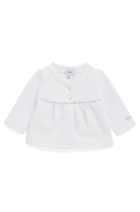 Baby-Strickjacke aus Jersey mit Logo-Details, Weiß