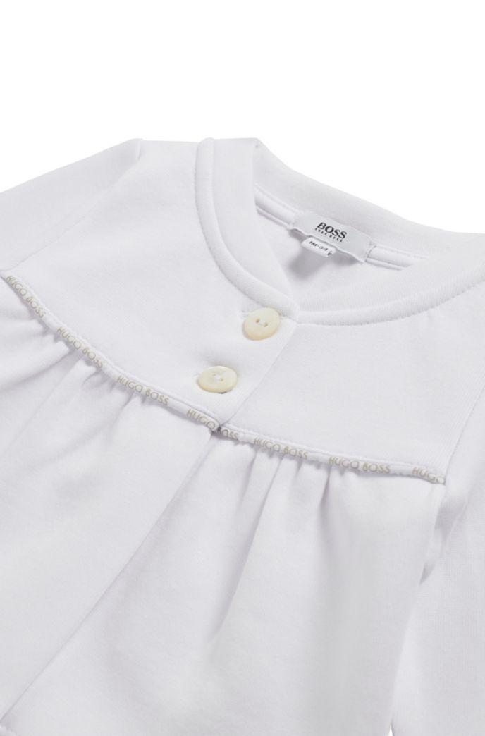 Baby-Strickjacke aus Jersey mit Logo-Details
