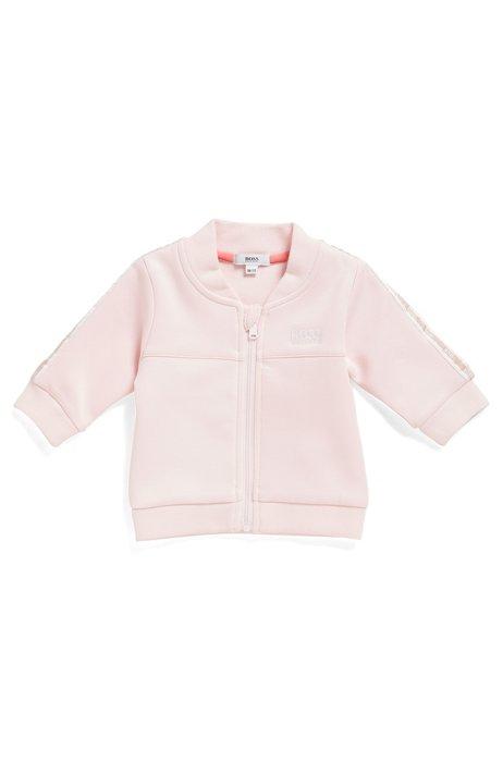 Giacca da neonato per l'abbigliamento da casa in tessuto intrecciato elasticizzato, Rosa chiaro