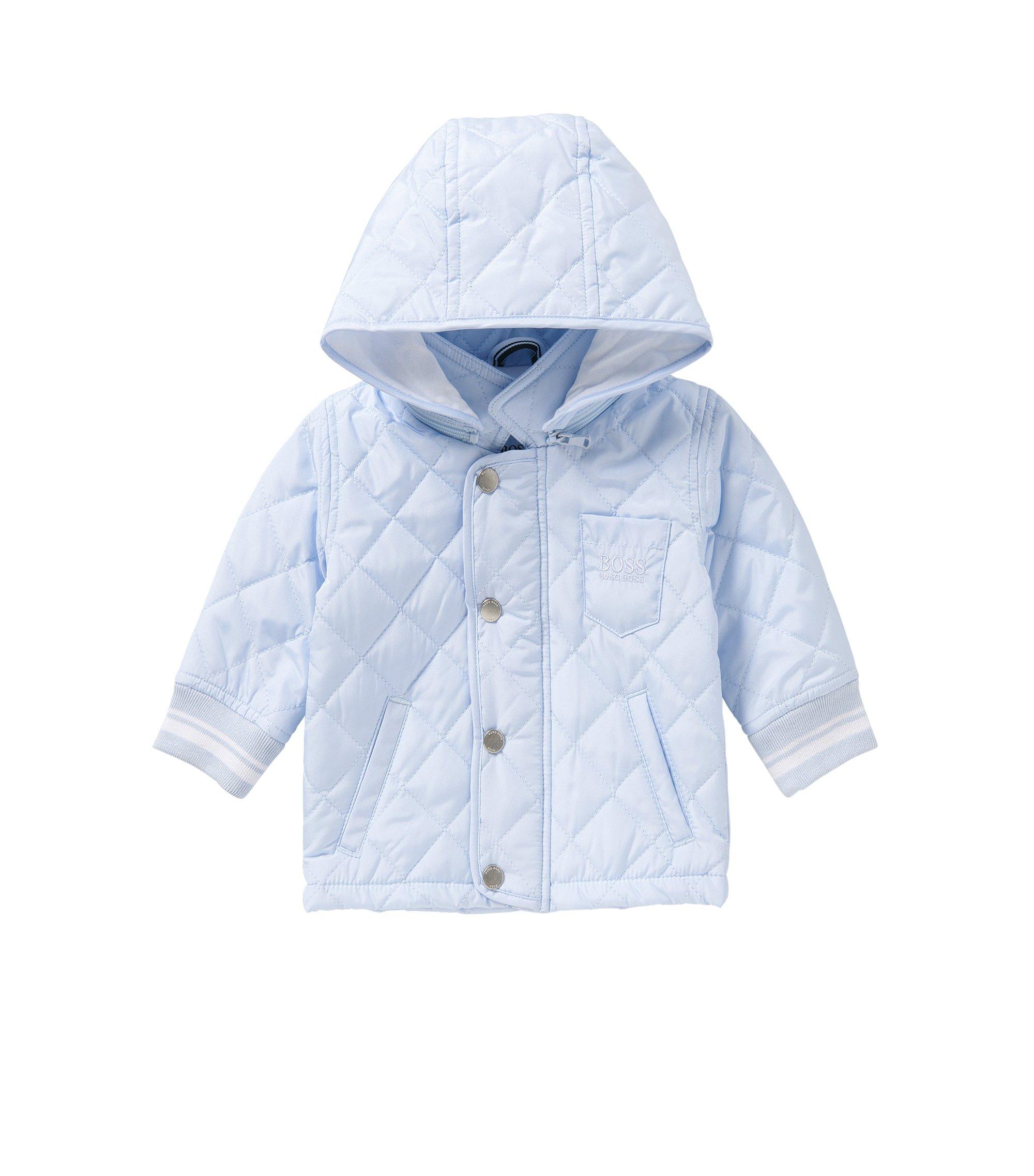 Baby-Steppjacke mit abnehmbarer Kapuze: 'J96056', Hellblau