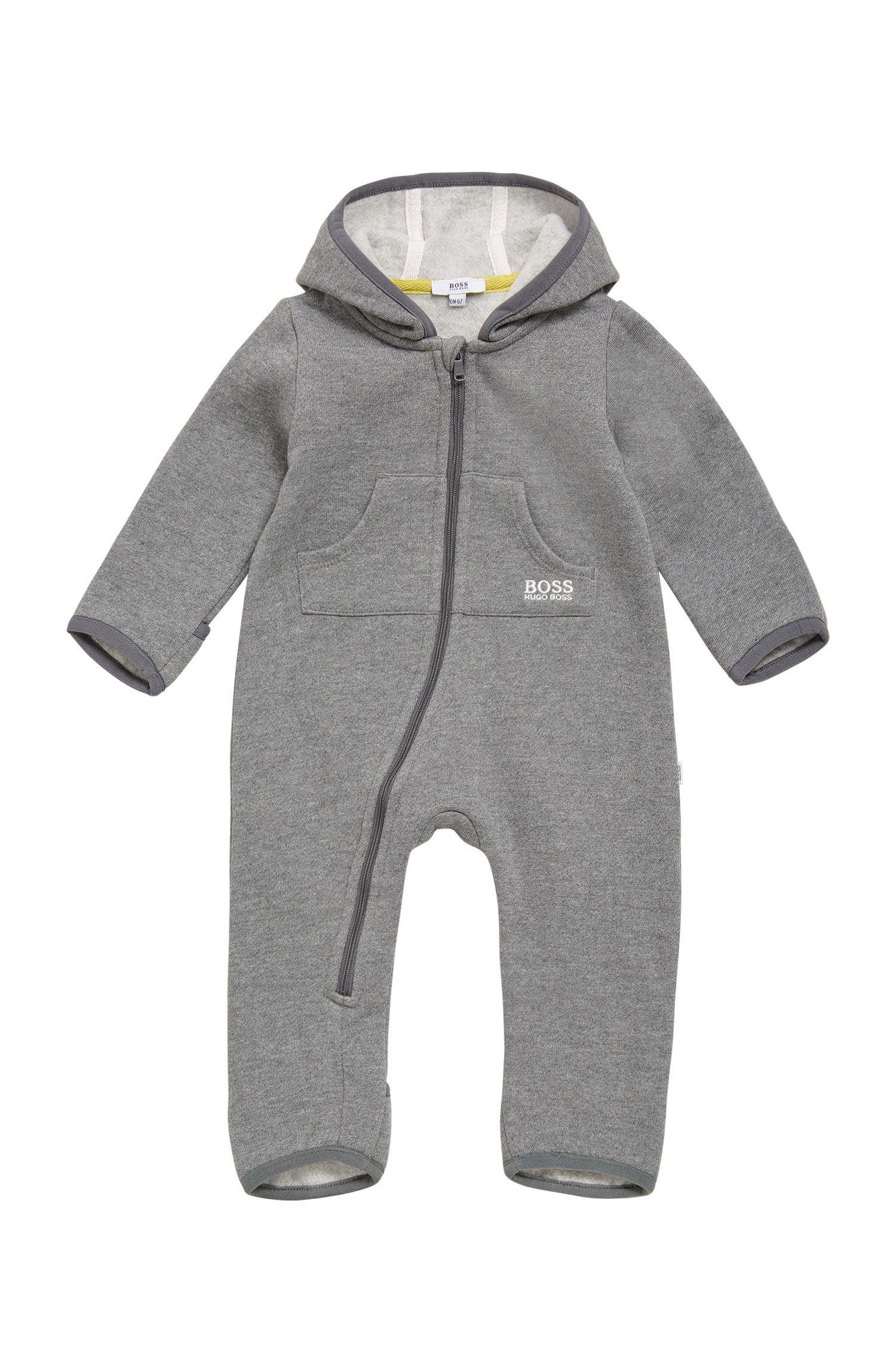 Combinaison pour bébé en coton mélangé, à capuche: «J96059»