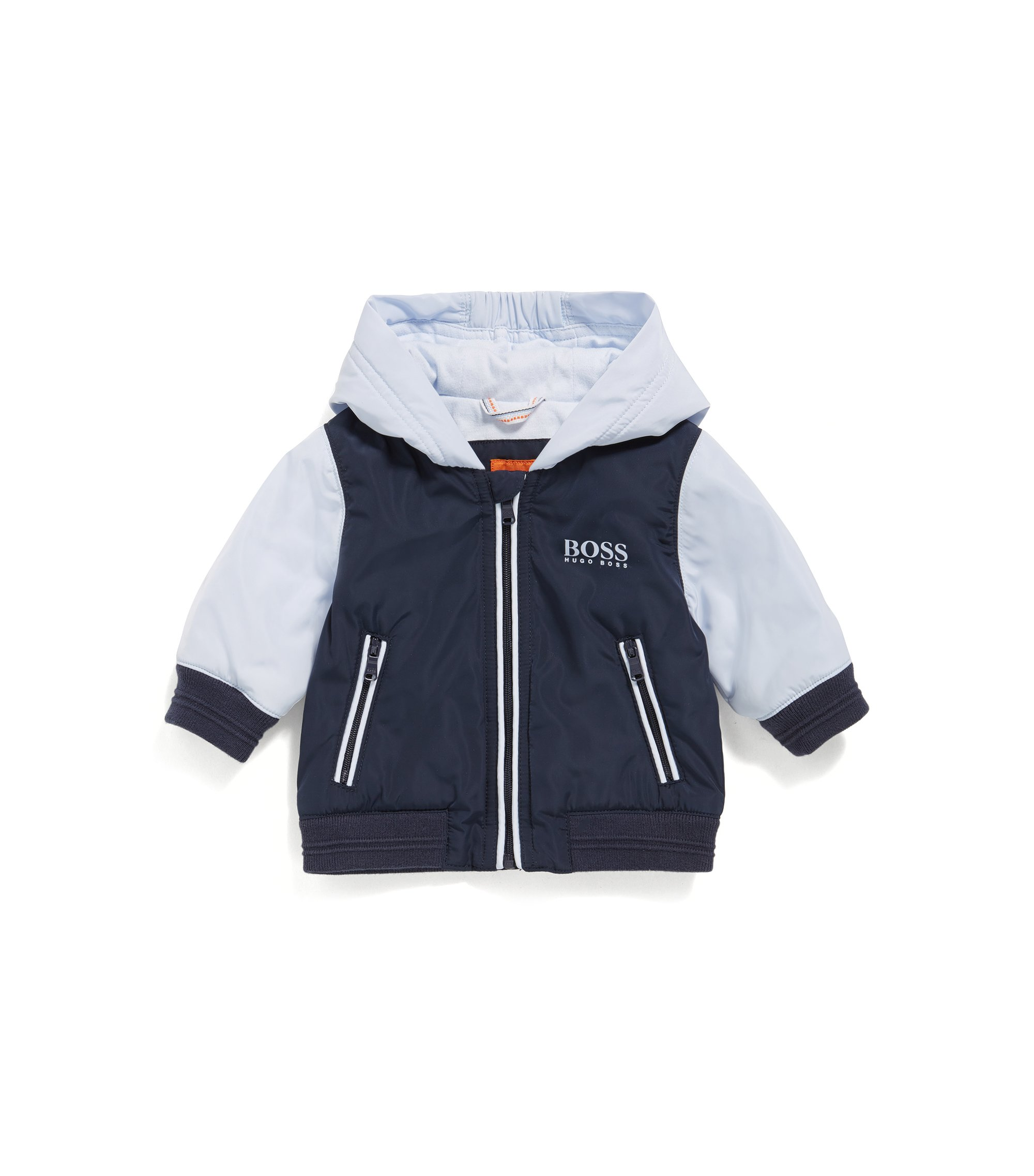 Regular-fit babyjas met jerseyvoering, Donkerblauw