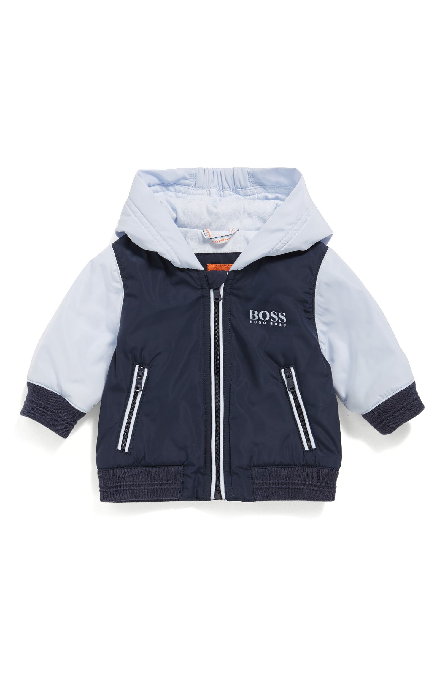 Regular-fit babyjas met jerseyvoering