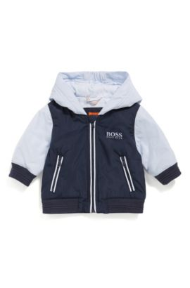 Baby regular-fit jacket with jersey lining, Dark Blue