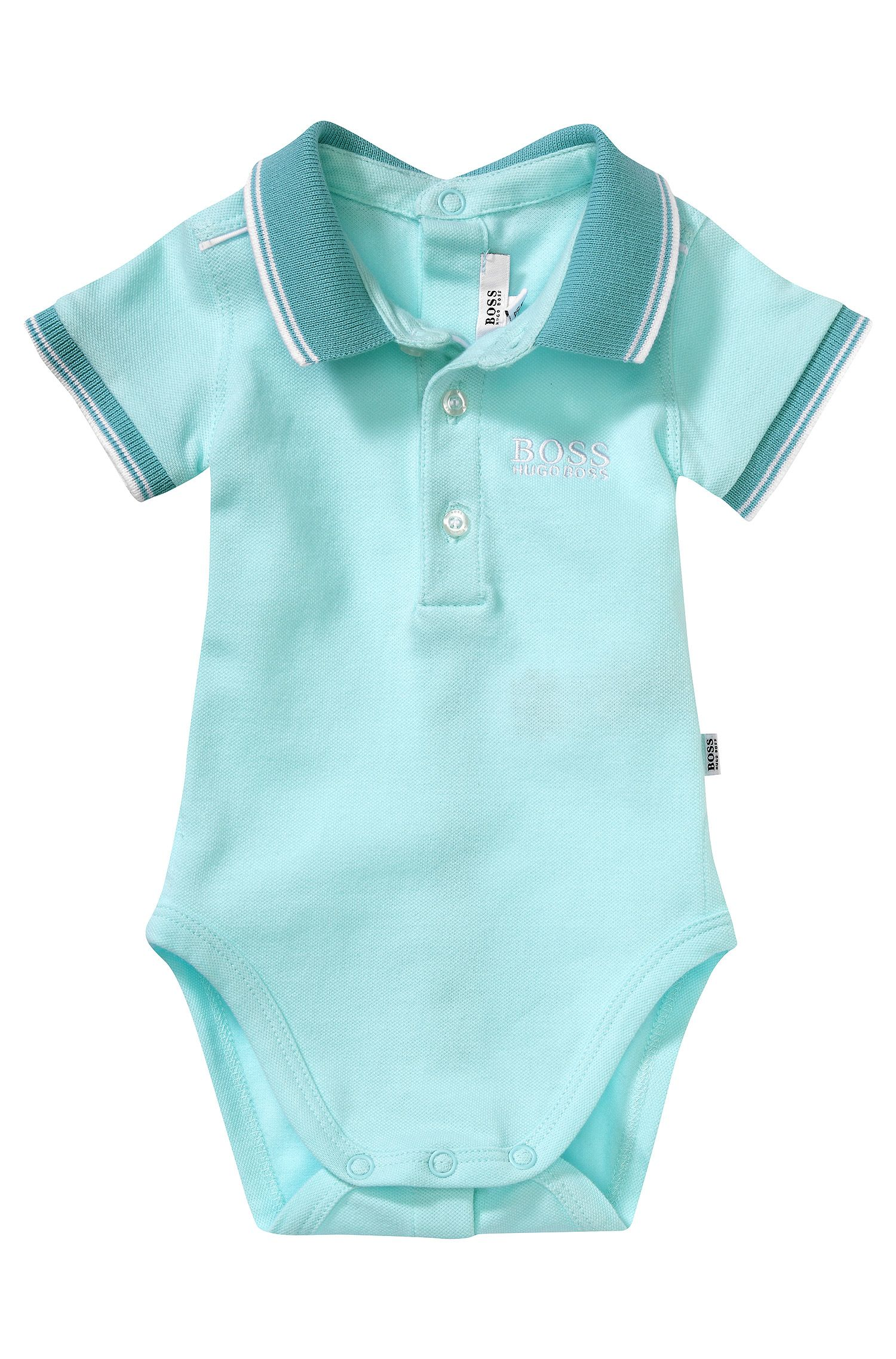 Baby-Polo-Body ´J97081` aus Baumwoll-Mix