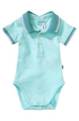 Body-polo pour bébé «J97081» en coton mélangé, Turquoise