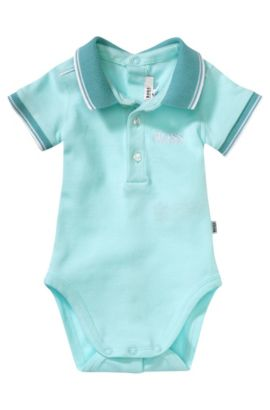 Baby-Polo-Body ´J97081` aus Baumwoll-Mix, Türkis