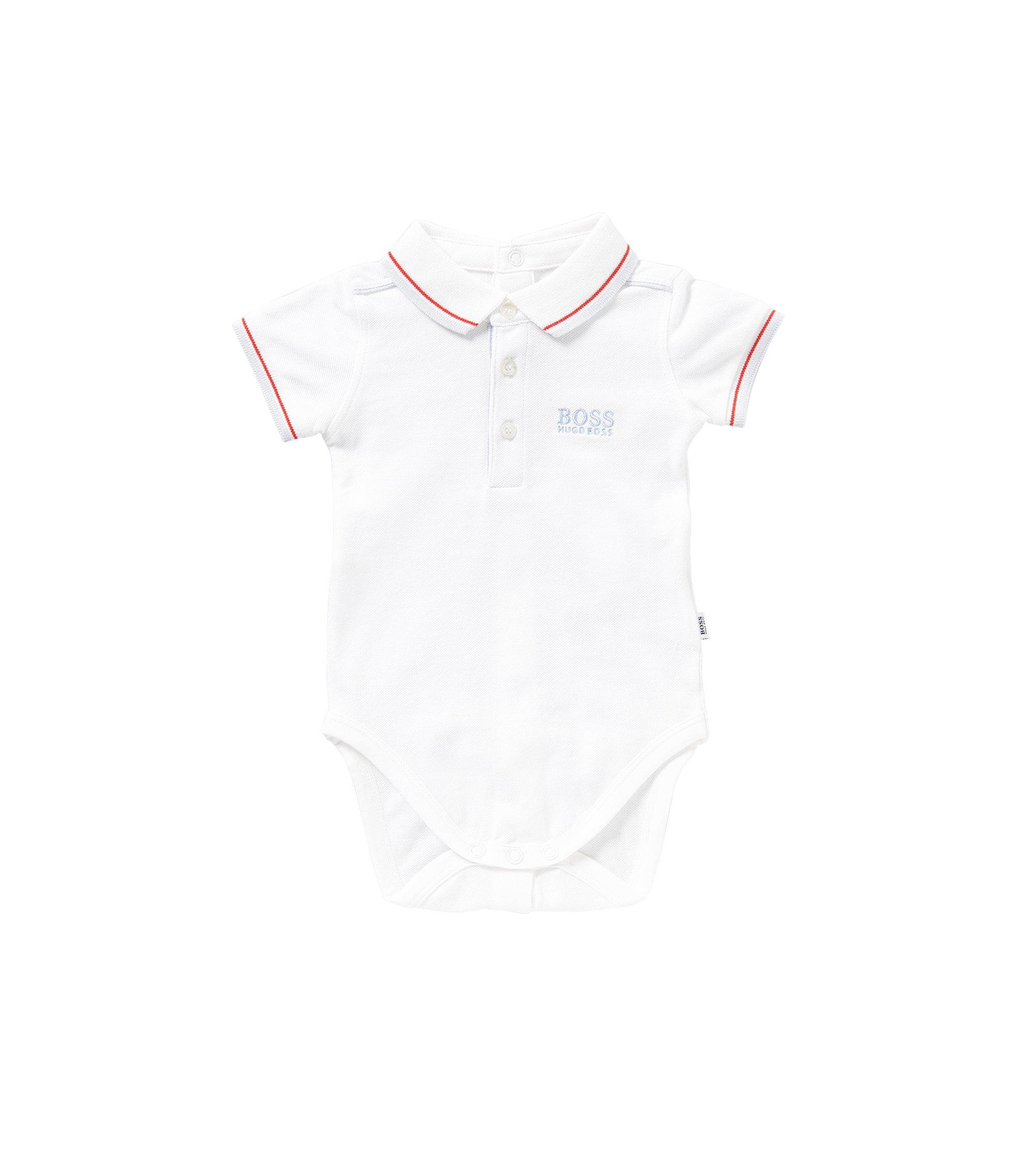 Baby-Body aus Stretch-Baumwolle: 'J97097', Weiß