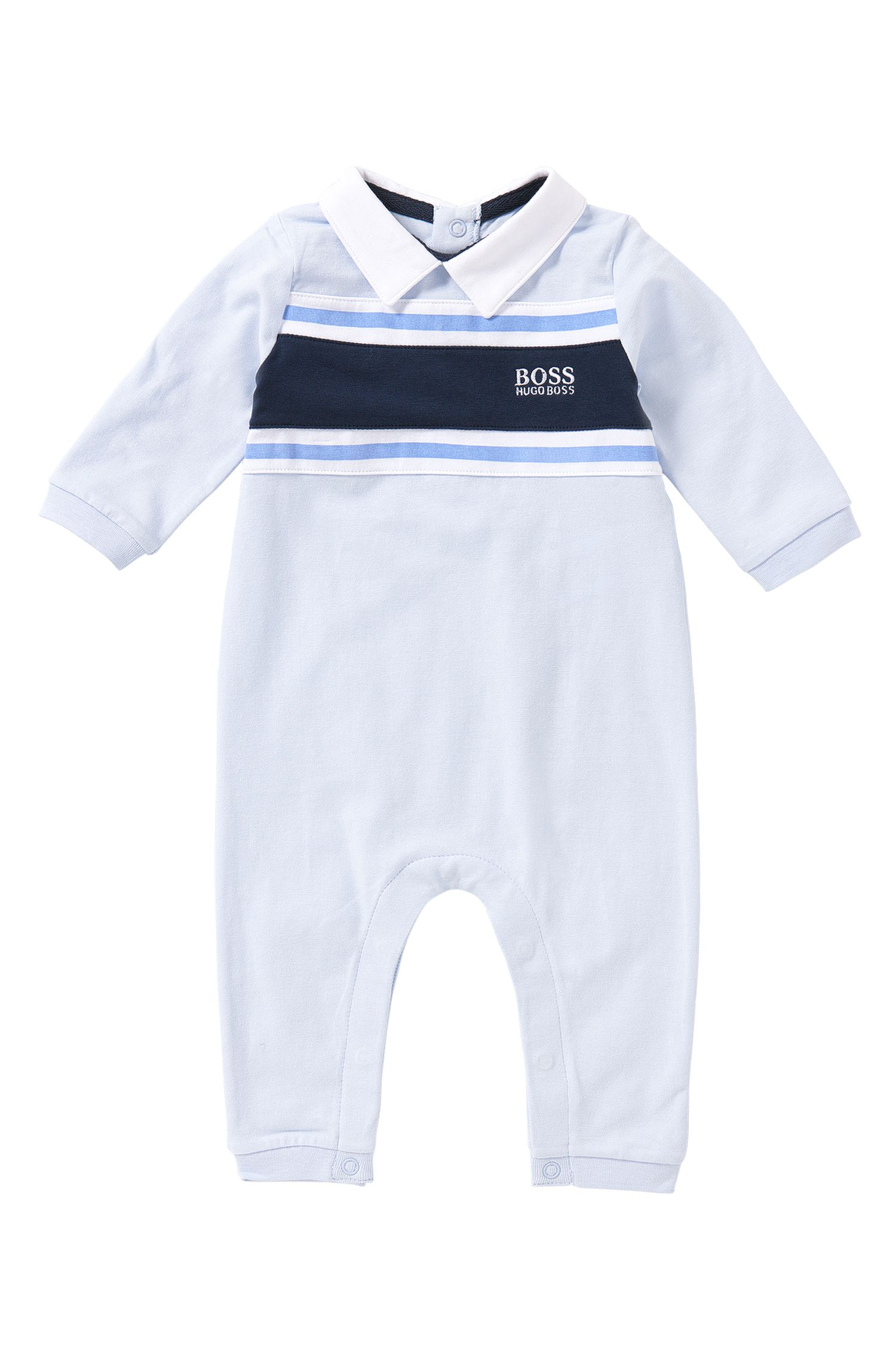 Baby-Spieler aus Strech-Baumwolle mit Streifen: 'J97099'