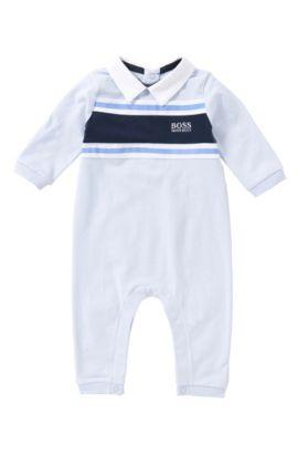 Baby-Spieler aus Strech-Baumwolle mit Streifen: 'J97099', Hellblau