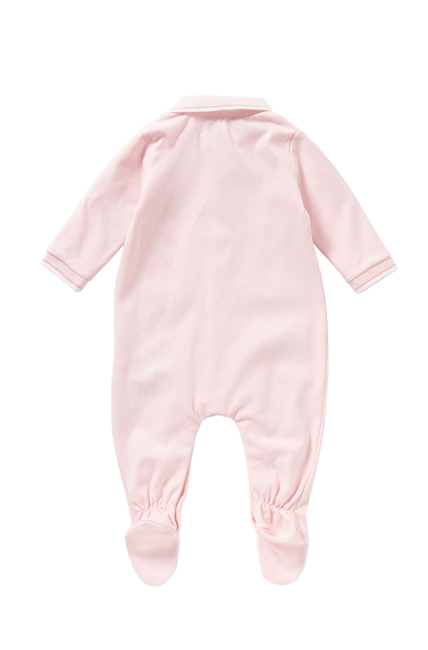Grenouillère pour bébé en coton avec col polo: «J97101»