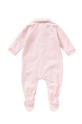 Grenouillère pour bébé en coton avec col polo: «J97101», Rose clair
