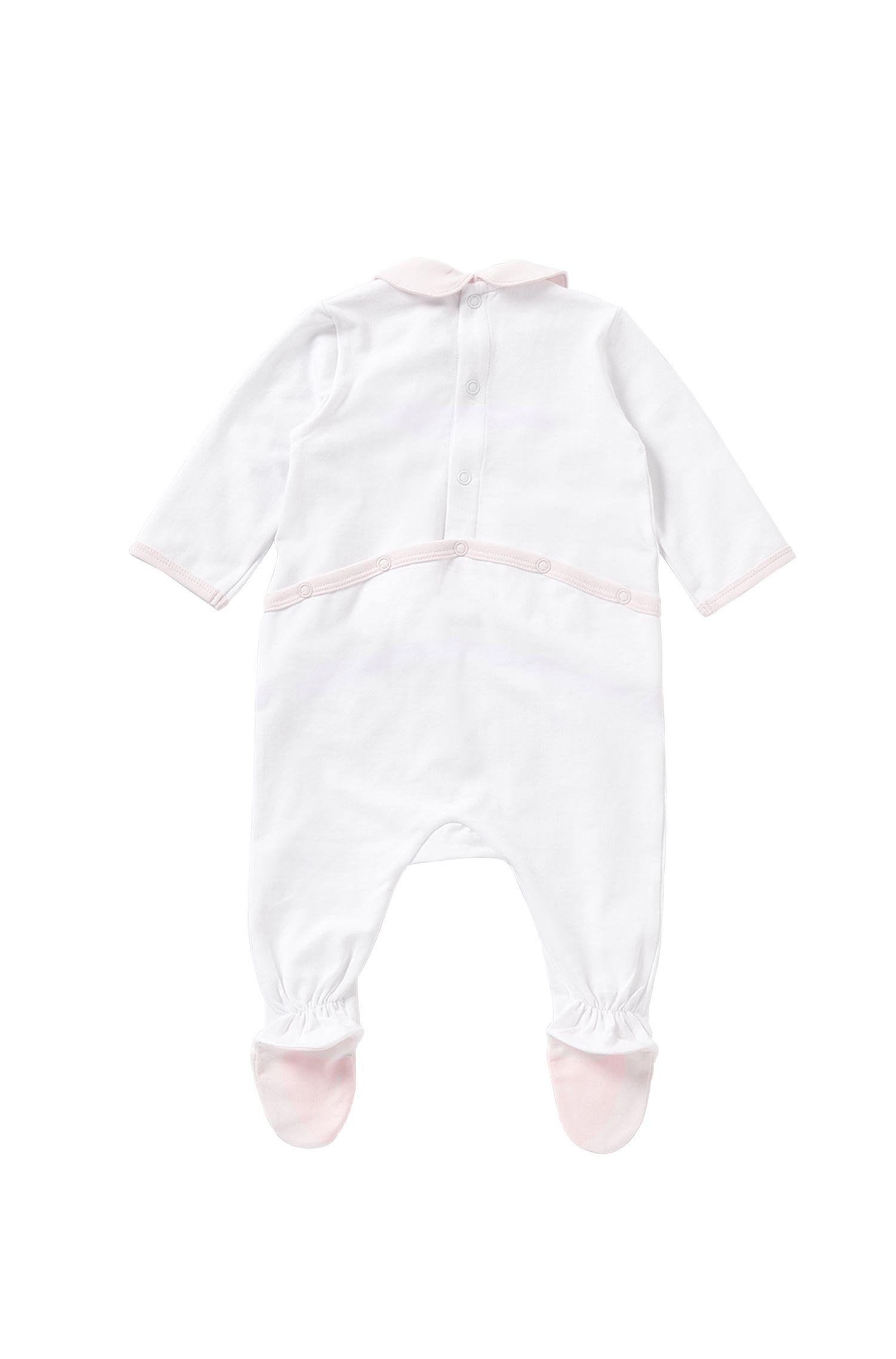 Combinaison pour bébé en coton stretch à détails rayés: «J97102»
