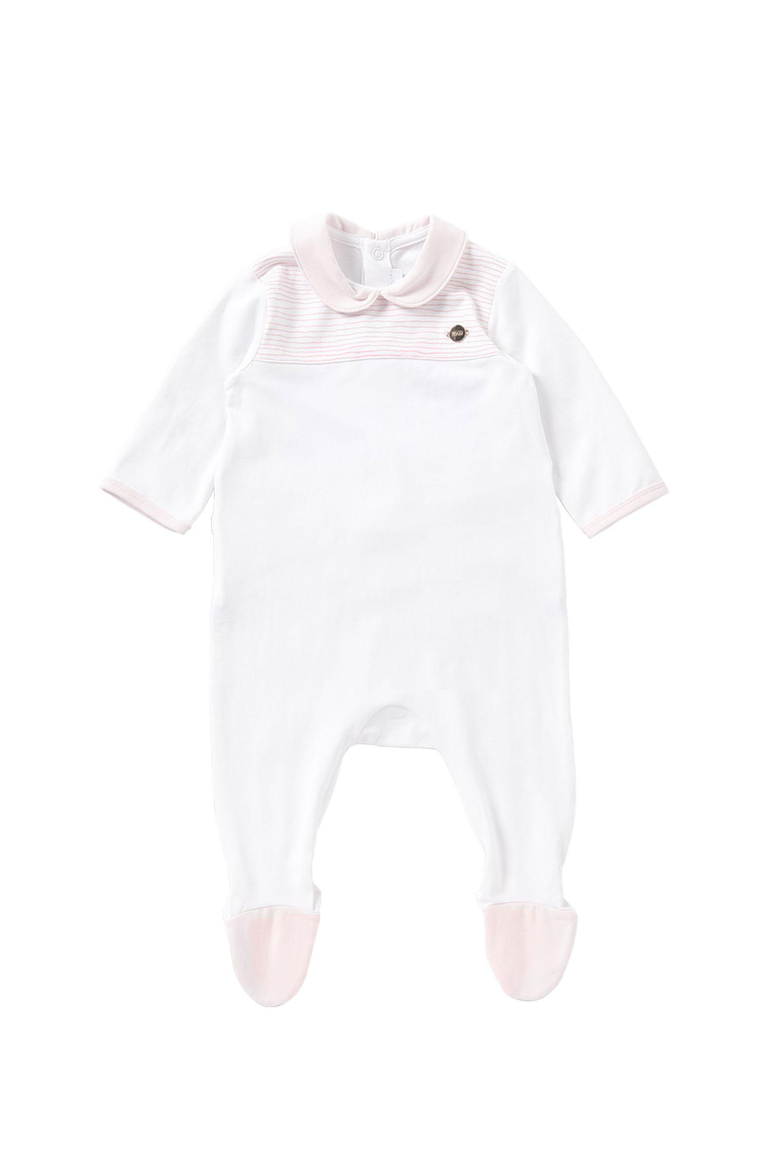 Baby-Overall aus Stretch-Baumwolle mit Streifen-Details: 'J97102'