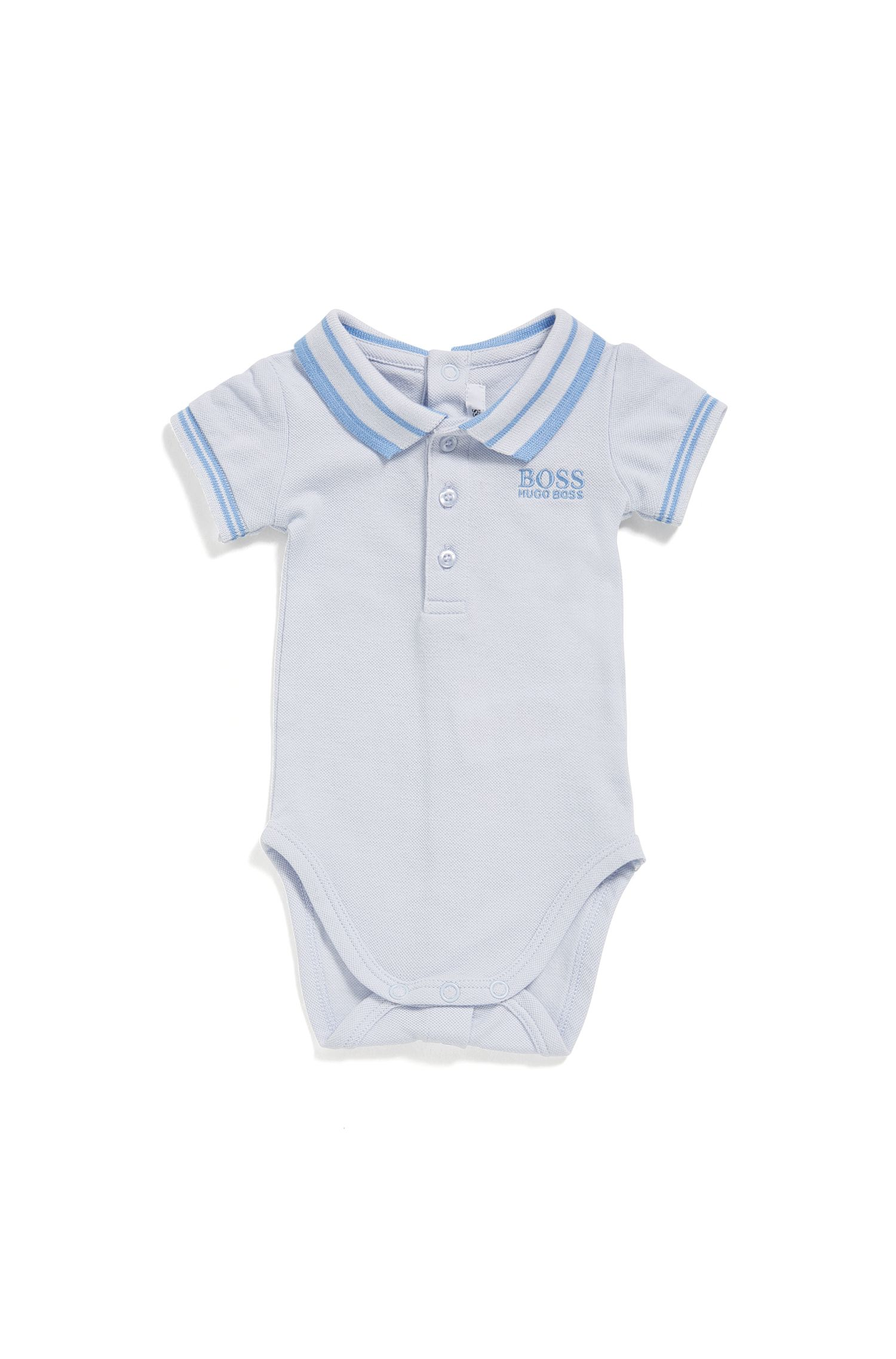 Baby-Body aus Stretch-Baumwolle mit Polo-Kragen: 'J97112'