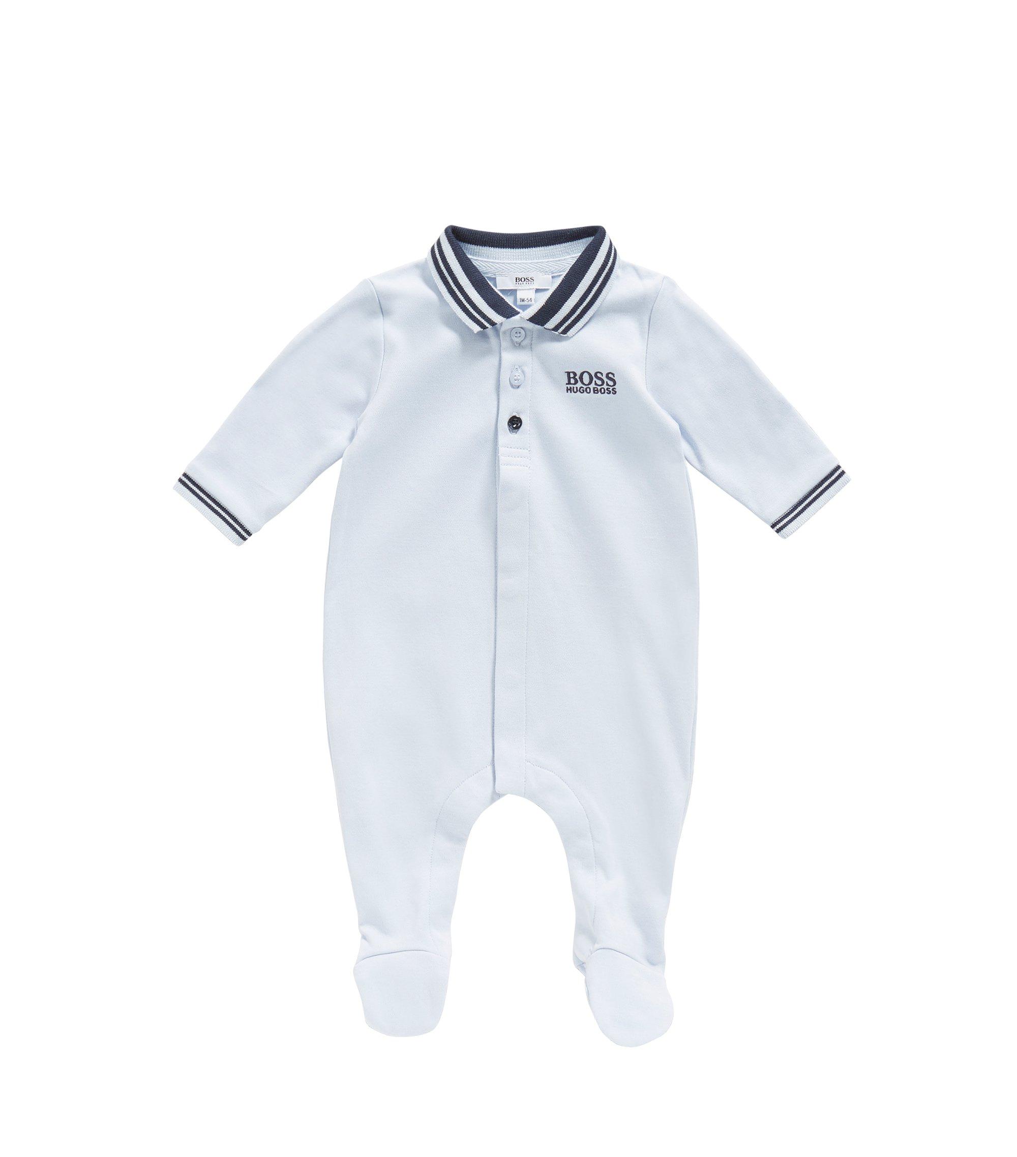 Baby-Overall aus Baumwolle mit Polo-Kragen: 'J97113', Hellblau