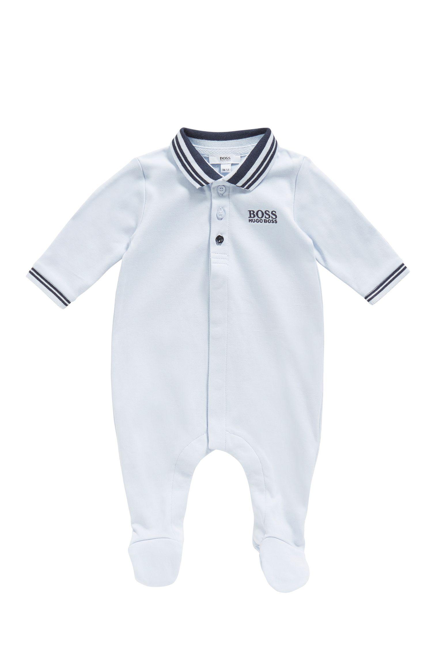 Tutina da neonato in cotone con colletto polo: 'J97113'
