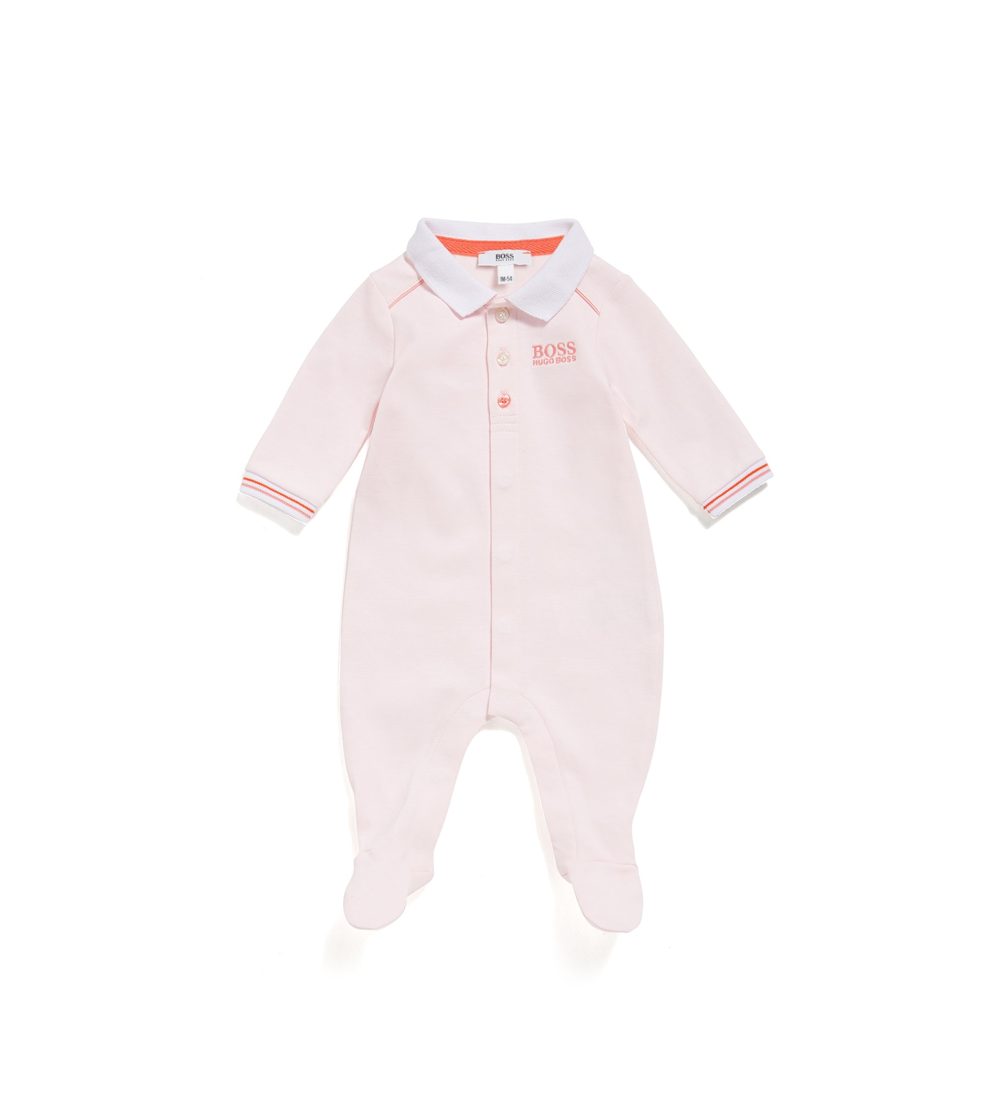 Pijama regular fit para bebé en algodón interlock, Rosa claro