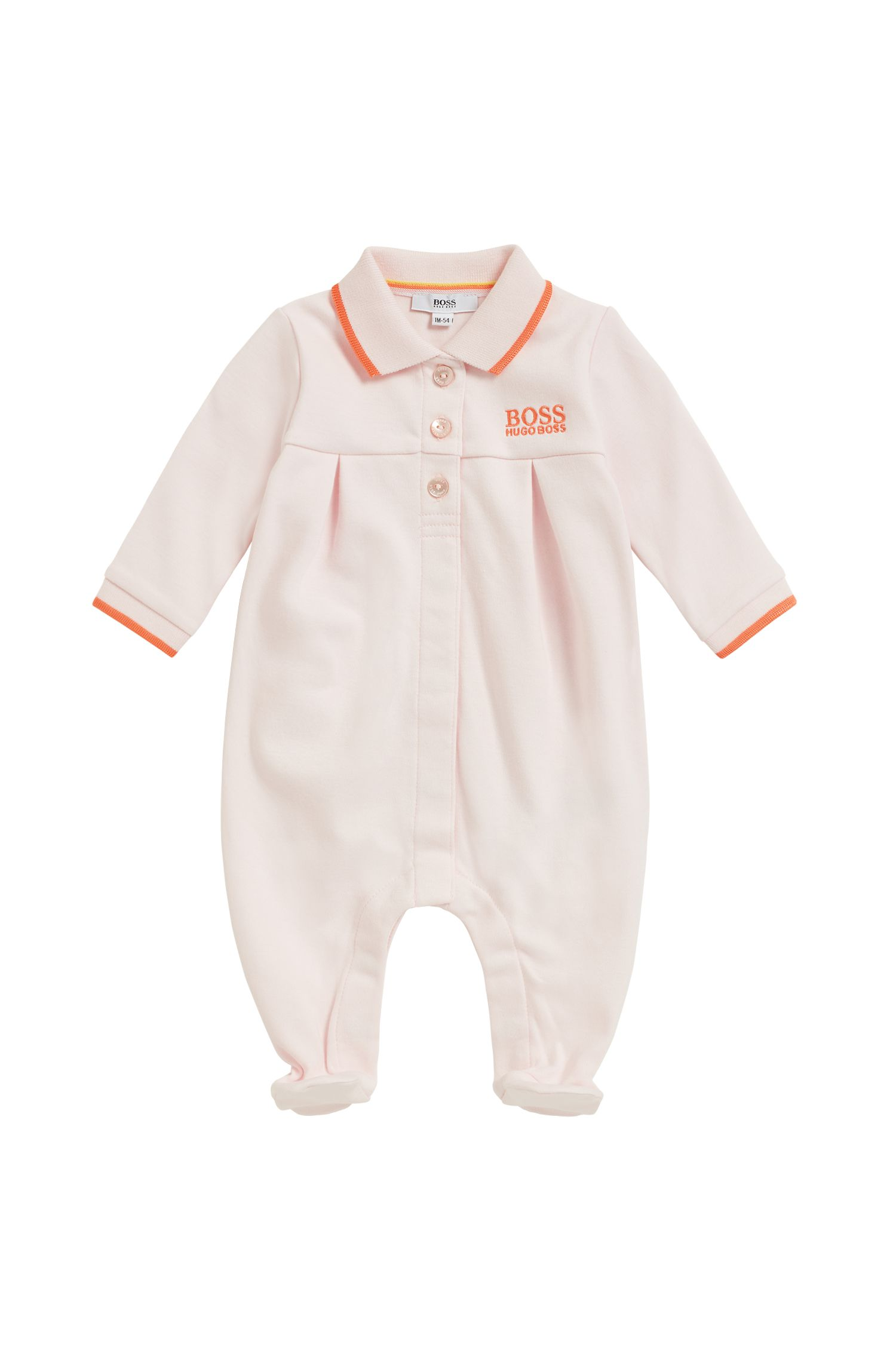 Baby girl sleepsuit in interlock cotton