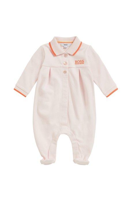 9d1d4725f9ac BOSS - Baby girl sleepsuit in interlock cotton