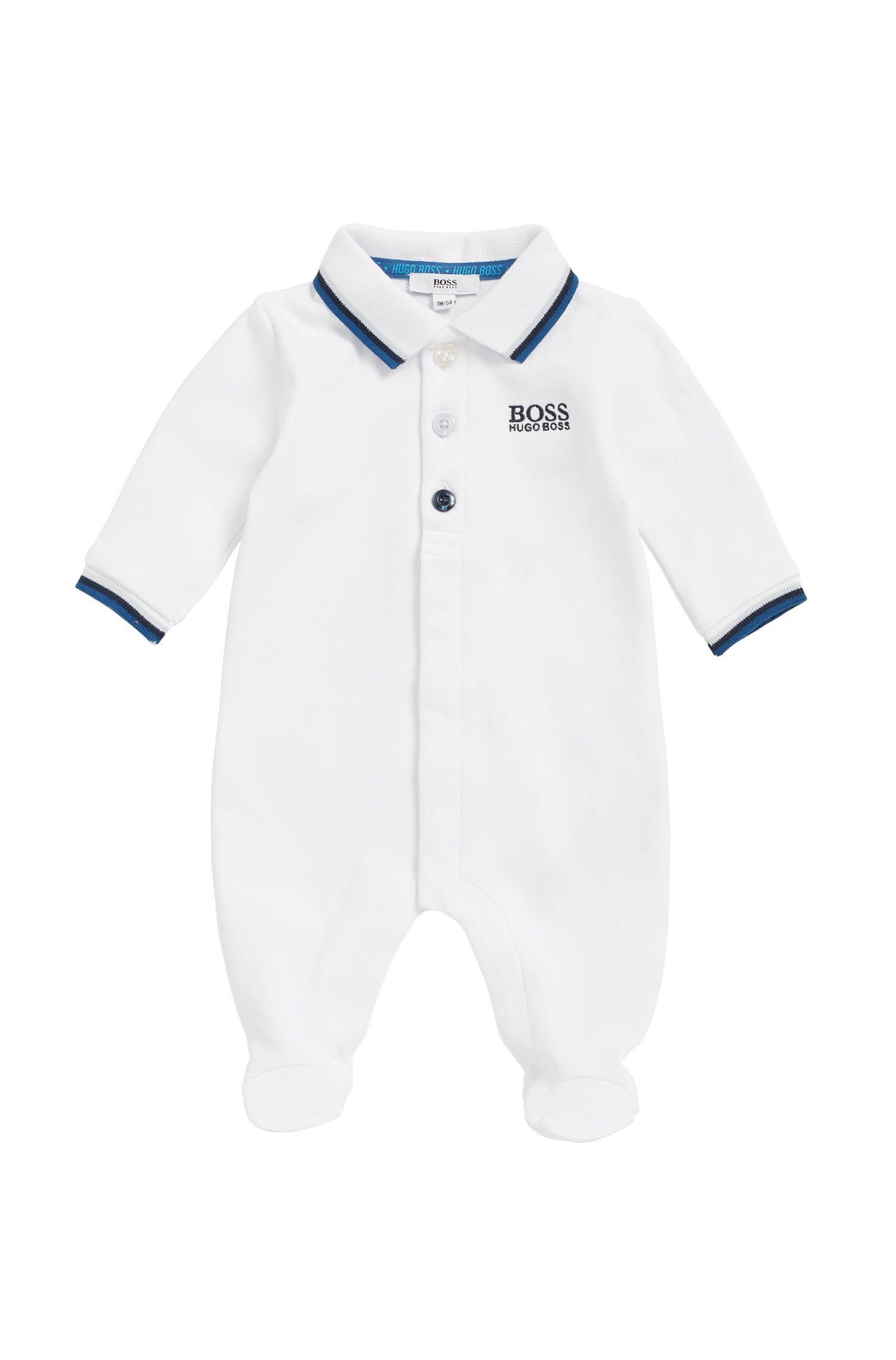 Pagliaccetto da notte per neonato in cotone intrecciato