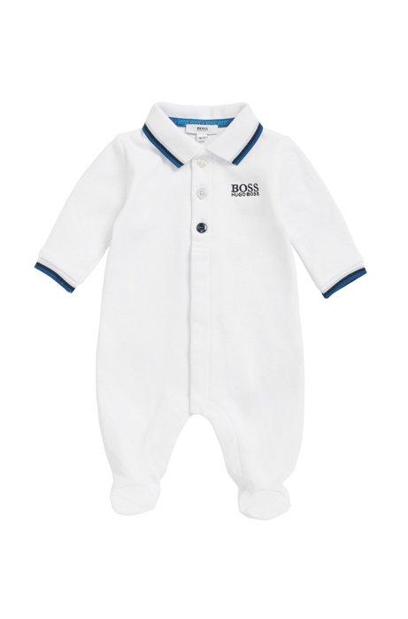 f1411ede7dd5 BOSS - Baby sleepsuit in interlock cotton