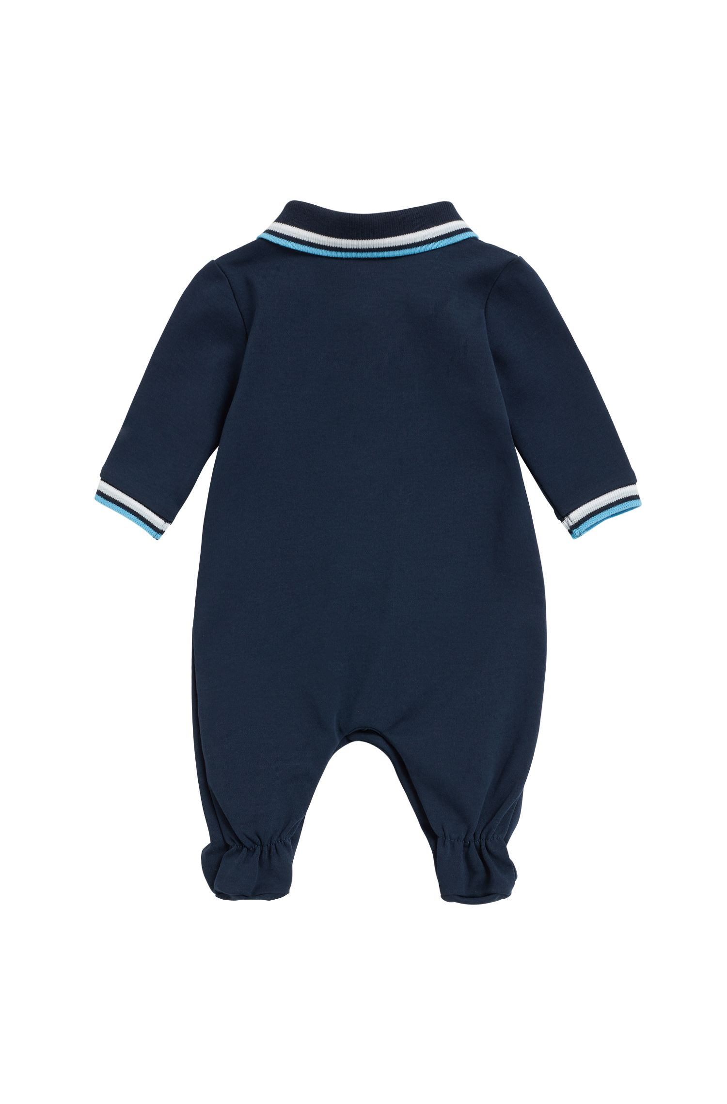 Pijama para bebé en algodón interlock, Azul oscuro